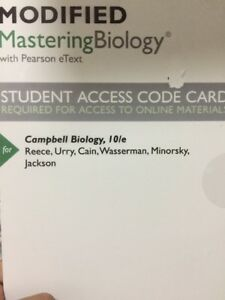 Modified Masteringbiology With Pearson Etext Access Card Campbell