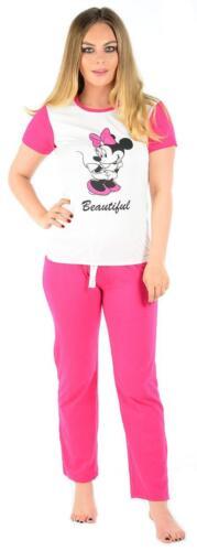Ladies Nightwear Snoopy Pyjama Set Mickey Minnie Mouse Womens Pjs Plus Size 8-14