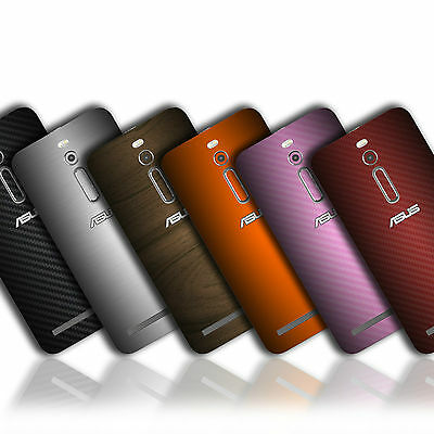 Textured Skin Wrap Sticker For ASUS ZENFONE 2 Carbon Fibre Case Matt Metal