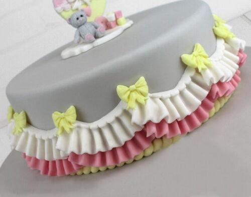 DIY Ruffle Border Swag Silicone Fondant Mould Cake Decor Bake Sugarcraft Mold