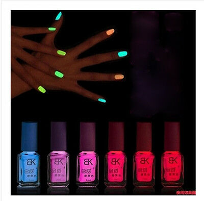 Glow inthe Dark UV Translucent Neon Fluorescent Luminous BK Nail Polish Varnish