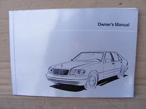 Mercedes-1405840281-Book-S-Class-Owner-039-s-Manual-W140-S-Class-All-Models