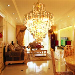 Nueva luz l mpara techo moderna de cristal ara a colgante para living sala de estar ebay - Lampara arana moderna ...