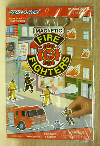 SMETHPORT-MAGNETIC-PLAYSET-FIRE-FIGHTERS-NEW-MADE-IN-USA-ZSME-7126