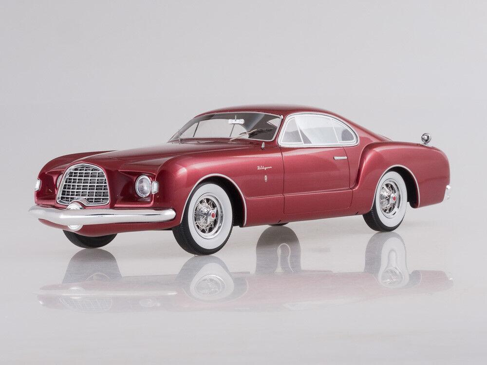 Escala modelo 1:18 Chrysler D elegancia, metálico: Rojo oscuro, 1953