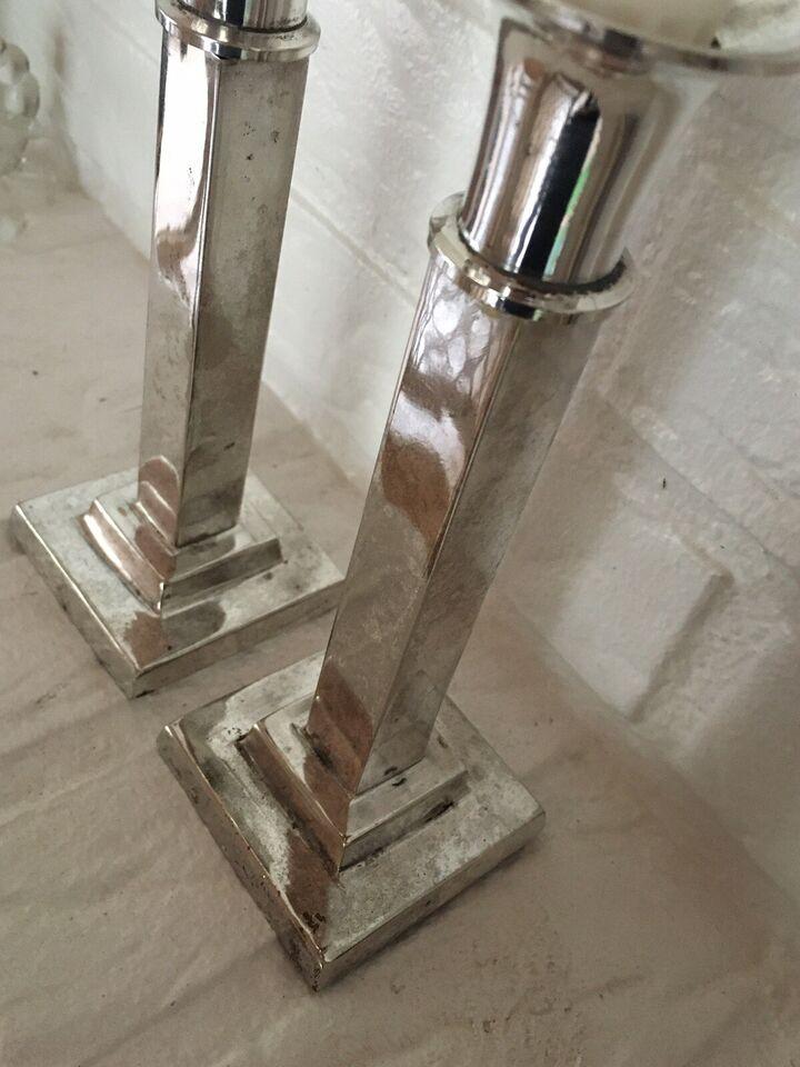 Sølv lysestager