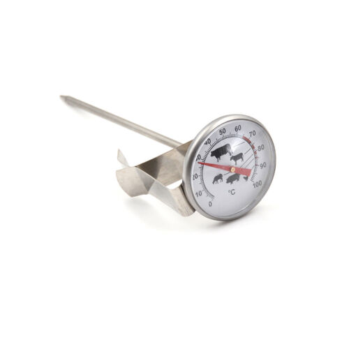 Stainless Steel Instant Read Probe Thermometer BBQ Food Cooking Meat GaugODUS