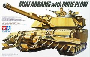 TAMIYA U.S. M1A1 ABRAMS CON MINE ARATRO SCALA 1:35 #35158