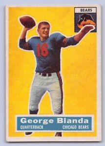 the best attitude e0f60 0dd54 Details about 1956 GEORGE BLANDA - Topps Football Card # 11 - CHICAGO BEARS