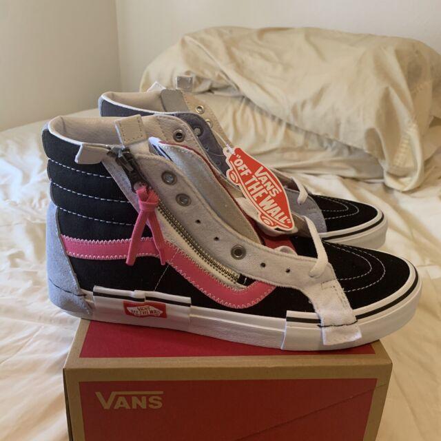 Vans New UA Sk8 Hi Reissue Cap BlackAzalea Pink Men Size USA 8 UK 7 EUR 42