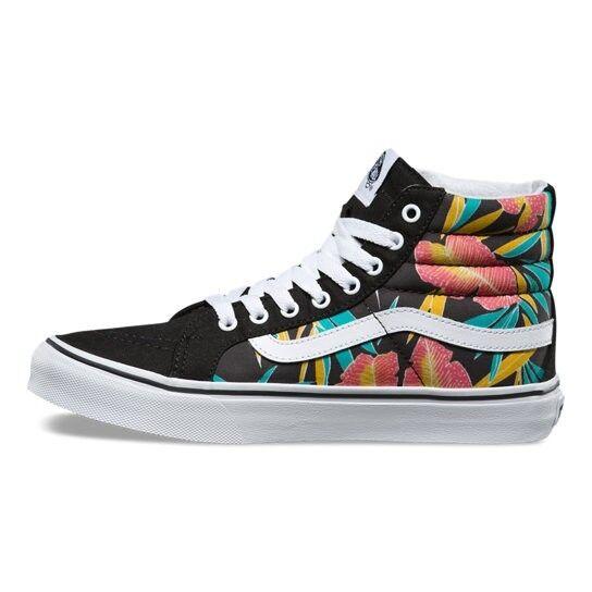 1877d860c5a701 VANS off The Wall Sk8 Hi Slim Tropical Leaves Black Shoes Mens 4 Women 5.5  for sale online
