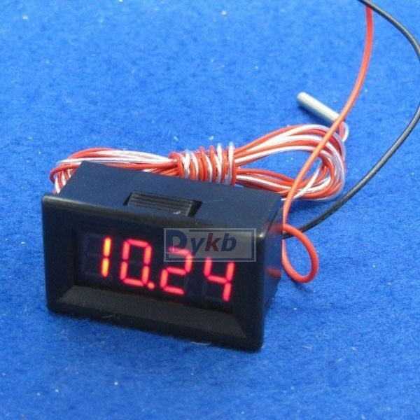Digital red led -200 to 450℃ PT100 Platinum Resister Temperature temp Sensor