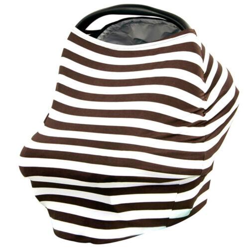 Multi Use Baby Car Seat Cover Canopy Nursing Pattern Cotton Breast Feeding Scarf