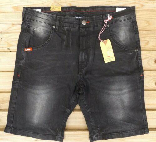 "Men`s New Lee Cooper Denim Shorts Size W32/"" Waist Charcoal BNWT"