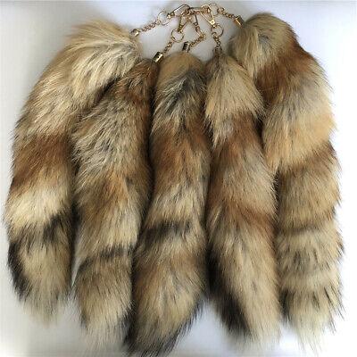 10pcs//lots Real Grass Fox Fur Tail Car HandBag Accessories Cosplay Toy keyring