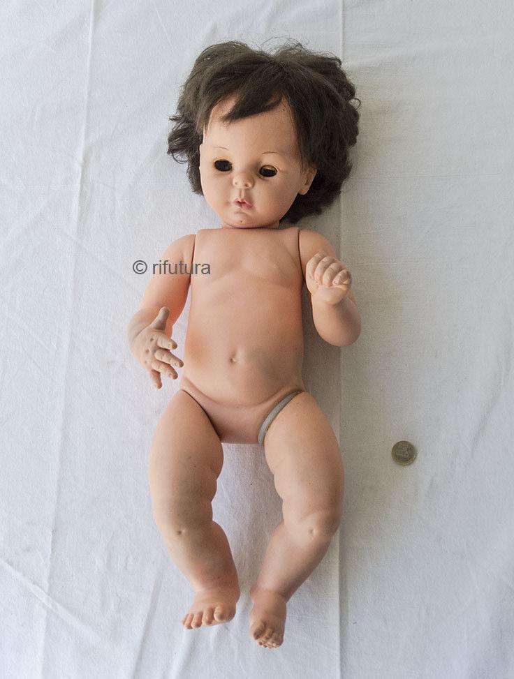 Bambola FURGA GIULIETTA H56cm vinile capelli castani Vintage Toy Doll Hair 1PD