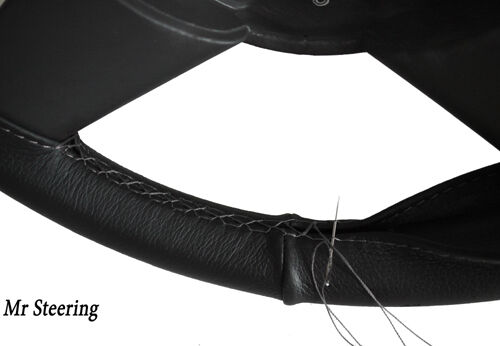 Pour citroen dispatch I 1994-2006 Noir en Cuir Volant couvrir gris Stitch