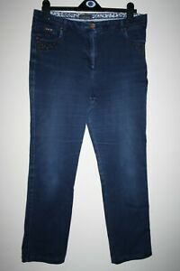 Per-Una-Women-039-s-Casual-Navy-Blue-Stretch-Jeans-Trousers-5-Pockets-Studs-Size-14M