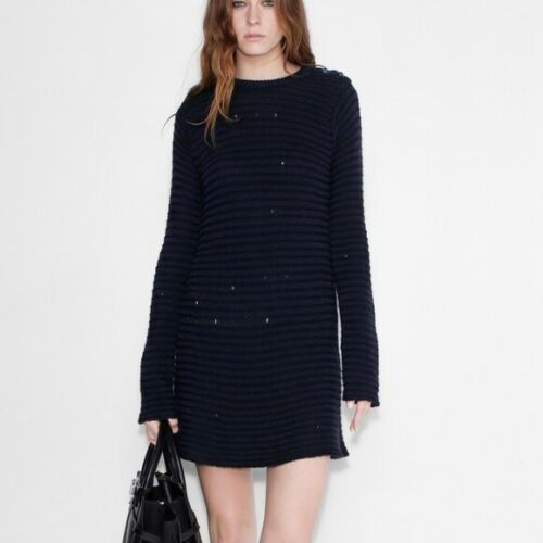 Zadig & Voltaire Distressed Sweater Dress