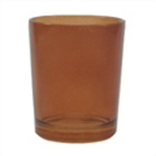 10 Brown Glass Cup Tealight Candle Votive Holder Garden Party Event Function