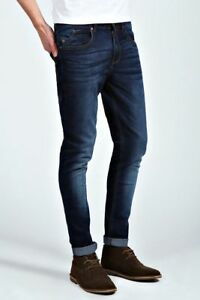 Mens-Super-Skinny-Jeans-Stretch-Slim-Fit-Denim-Jeans-Pants-Branded-Zip-Fly