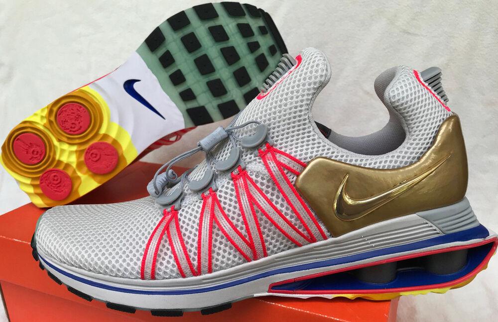 Nike Shox Gravity AQ8553-002 Metallic NZ Gold Marathon fonctionnement chaussures homme 11.5