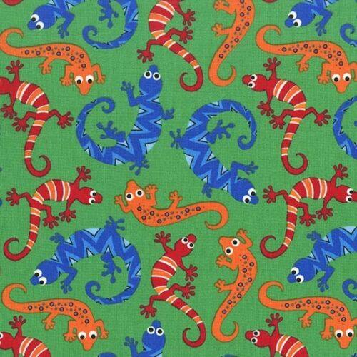 Fat Quarter Scaly Lizards Green 100/% Cotton Quilting Fabric Michael Miller