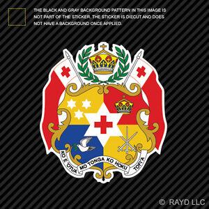 Sticker coat of arms flag car vinyl decal outdoor bumper shield tonga
