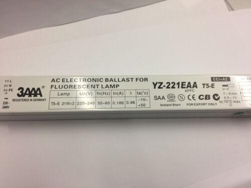 Electronic Ballast 2 x 21W 3AAA YZ-221EAA T5-E  Vorschaltgerät