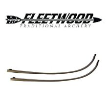 """Fleetwood Monarch Recurve 62"""" 25# Limbs Only BLACK"""
