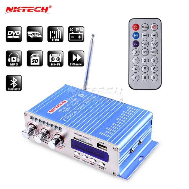 Bluetooth HY-502S Amplificateur de puissance stéréo hi-fi 2x20W FM MP3 Audio Lecteur Numérique