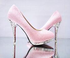 Summer Women Pumps Wedding White Shoes Bridal Bridesmaid High Heel Shoes Size 41
