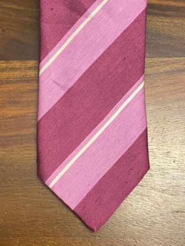 Charvet Silk Blend Striped Pink Tie