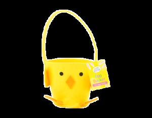 Felt Easter Chick Treat Bucket - Decoration Novelty Egg Hunt Crafts