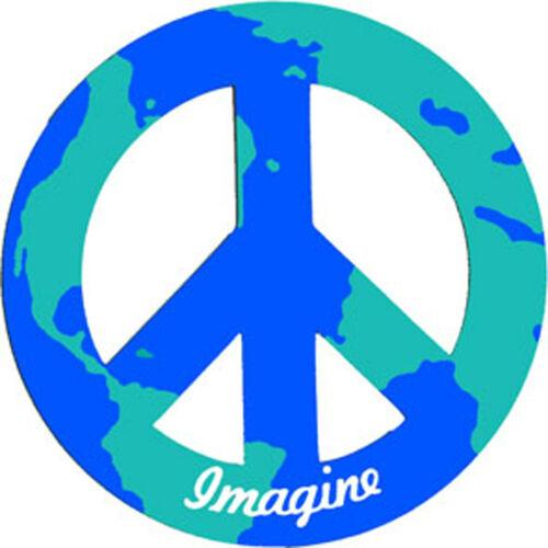 "Imagine World Peace 2/"" Car//Refrigerator Magnet"