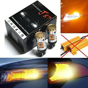 Canbus-Error-Free-LED-Light-7444-Amber-Two-Bulbs-Rear-Turn-Signal-Upgrade-Lamp