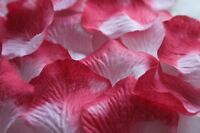 100 x BLENDED WHITE PINK SILK ROSE PETALS WEDDING CONFETTI TABLE DECORATION