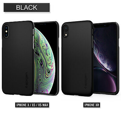 iPhone XS Max XR Case, Genuine SPIGEN Ultra Thin Fit Slim Hard Cover for Apple