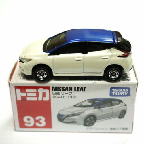 JAPAN TAKARA TOMICA 93 NISSAN LEAF DIECAST CAR MODEL WHITE 879732