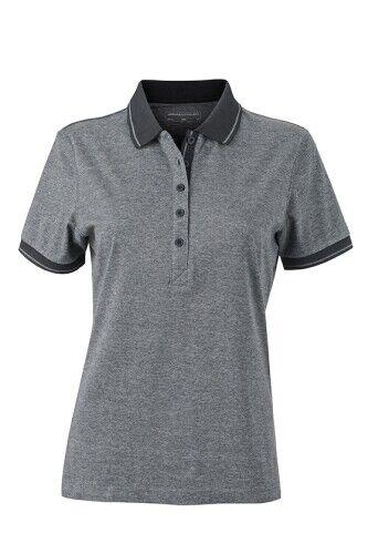 Damen Melange Poloshirt Heather Polo Shirt