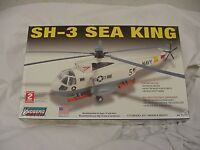 Lindberg Helicopter Sh-3 Sea King Navy Model Kit Sealed 1/72 Scale