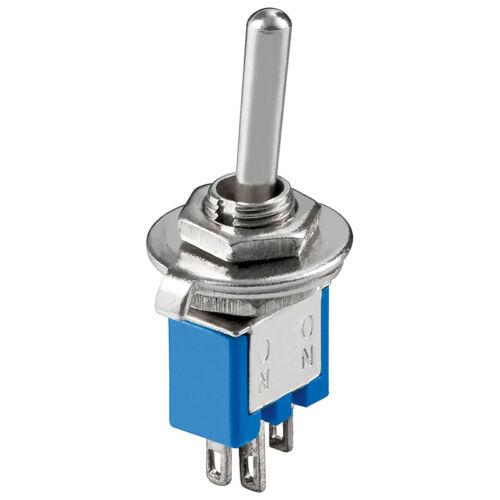 Kippschalter Miniatur EIN-UM 3Pins Lötösen