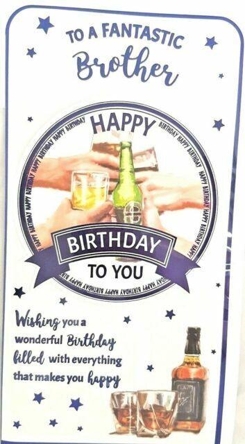 FANTASTIC GRANDSON CARD ~ DRINKING DESIGN ~ QUALITY CARD /& NICE VERSE BY BGC