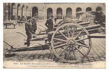 """guerre 1914-15 trophées de guerre """"pièces de 77 artilleries de campagne allemand"""