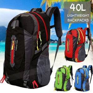 affordable price diversified latest designs latest collection Details about Travel Hiking Backpack Waterproof Outdoor Sport Camping  Daypack Rucksack Bag 40L