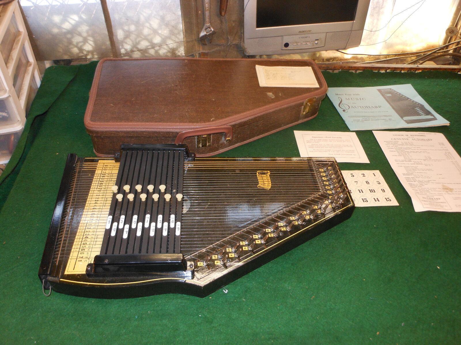 Vintage OSCAR SCHMIDT 36-String Style  73 12-Chord Autoharp With CASE
