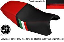 RED & BLACK VINYL CUSTOM ITALIAN FLAG DESIGN FITS DUCATI ST2 ST4 DUAL SEAT COVER