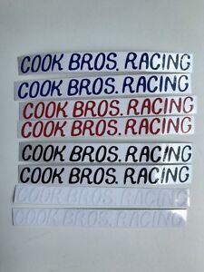 Cook Bros Racing BMX Crank Decal JMC GJS