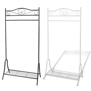 garderobenst nder garderobe kleiderst nder kleiderschrank stahl wei schwarz ebay. Black Bedroom Furniture Sets. Home Design Ideas