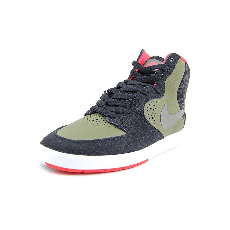 Nike Men's Paul Rodriguez 7 High Skate Shoes Crimson/Black 616355 036, Size 9